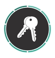 Keys computer symbol vector image