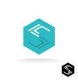 Letter S tech logo vector image