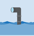 metal periscope above the water vector image
