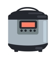 Slow Cooking Crock Pot Isolated on White Steamer vector image