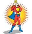 Super hero man vector image