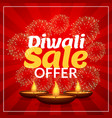 diwali sale offer discount marketing template vector image