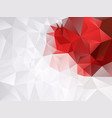 gray white and vibrant red color background vector image vector image