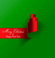 Paper christmas card 2 vector image vector image