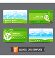 Business Card template set 007 Ecology concept vector image
