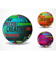 colorful creative balls vector image vector image