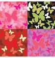 abstract backgrounds with butterflies silhouettes vector image vector image