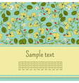 Card with gooseberry and leaves vector image