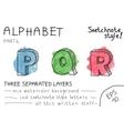Colorful alphabet - Part 6 vector image
