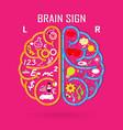 Creative left and right brain Idea concept vector image