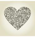 Heart electronics vector image