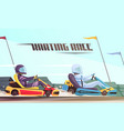 kart racing vector image