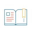 linear of color book on white background vector image