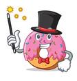 magician donut mascot cartoon style vector image