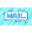 Pixel art mail on blue background vector image