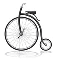 old retro bike vector image vector image