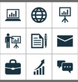 trade icons set collection of earth contract vector image