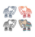 indian ethnic elephant with tribal ornament vector image