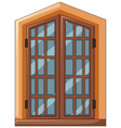 window design with wooden frame vector image vector image