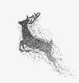 running deer black particles divergent silhouette vector image