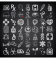 49 hand drawing doodle icon set medical theme on vector image