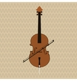 Musical instrument icon design vector image