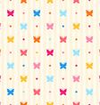 Seamless pattern Color butterflies and dots vector image