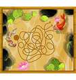 Game template with two fish in the pond vector image vector image