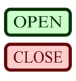 Set open and close sign 1404 vector image