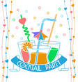 banner cocktail party vector image