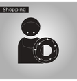 black and white style icon cook donut vector image