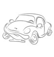 cartoon image of broken down car cartoon vector image