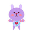 cute cartoon bunny animal toy colorful vector image