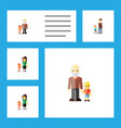 flat icon people set of daugther mother boys and vector image