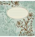 floral background vintage vector image
