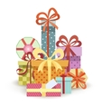 Gift boxes stack vector image