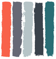 Grunge paint roller strokes brush strokes vector image