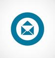 mail bold blue border circle icon vector image