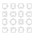 set of puzzle parts vector image