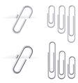 Set of realistic clips vector image