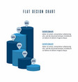 tube chart info graphics elements design vector image
