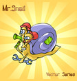 mr snail with working vector image