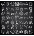 49 hand drawing doodle icon set travel theme on vector image