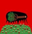dead tree vector image vector image