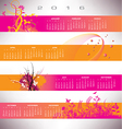 2016 calendar grunge banners vector image