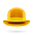Yellow bowler hat vector image vector image
