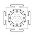 monocrome outline Baglamukhi yantra vector image