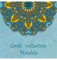 Card design with mandala pattern vector image