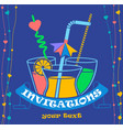 banner party invitation vector image