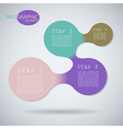 Circle infographic Modern design element vector image